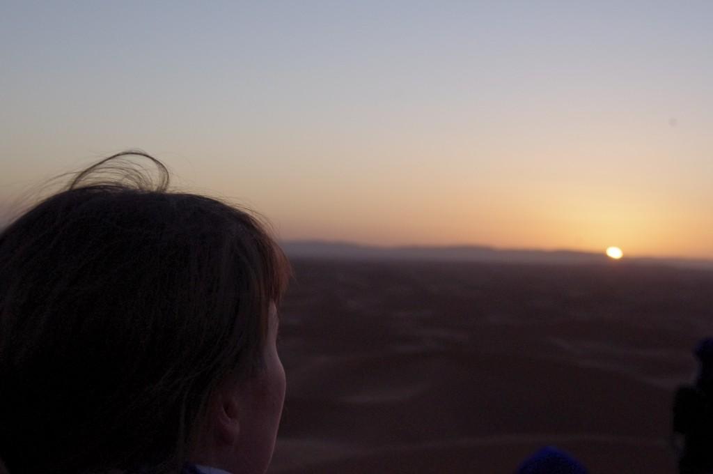 Puesta de sol desde la Gran Duna de Erg Zhar